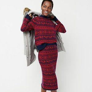 J. Crew Cheerful Fair Isle Sweater size XS NWT